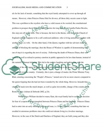 Journalism, Mass Media and Communication essay example