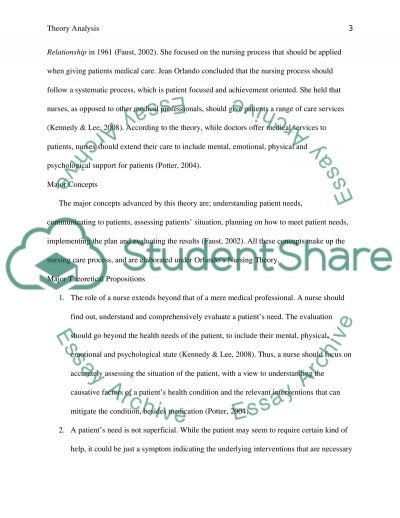 TEP Theory Analysis essay example