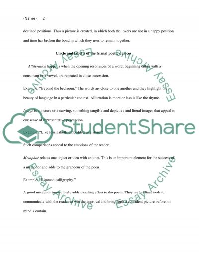 The Poetry Project Essay Example Topics And Well Written Essays