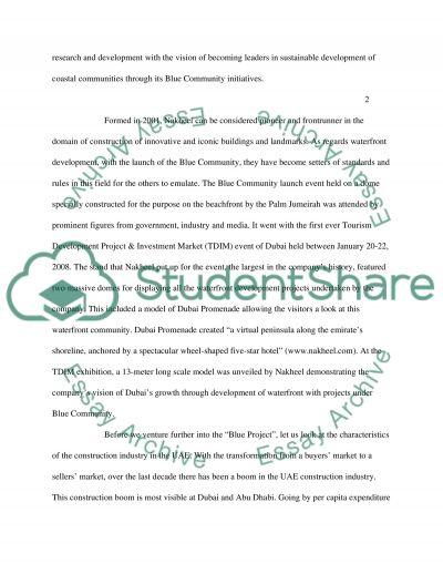 Al Nakheel Blue Community essay example