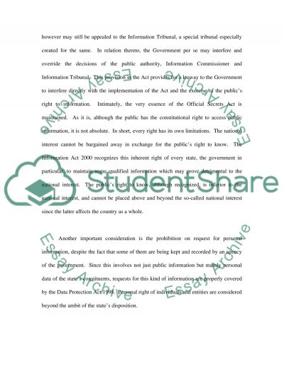 Information Law Essay