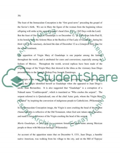 Virgin Mary of Guadalupe essay example