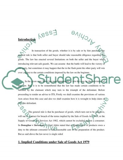 UK Commercial Law - Final Year Coursework essay example