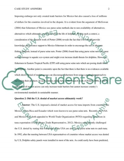 Answer the 4 questions at the end of the case study essay example