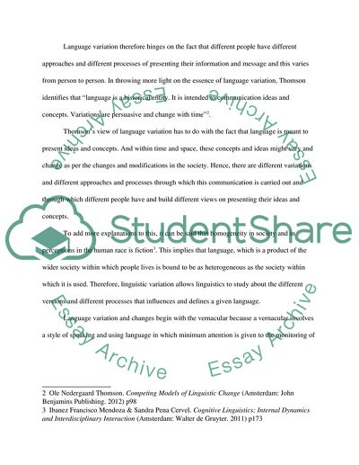 language change essay
