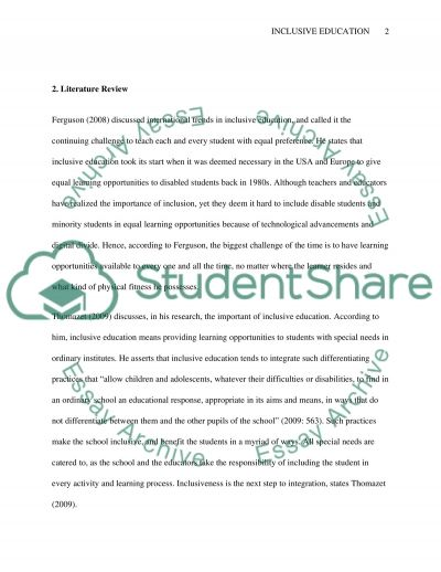 Understanding Inclusive Education essay example