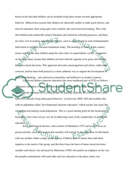 Character and Citizenship Education: What More Can We Do essay example