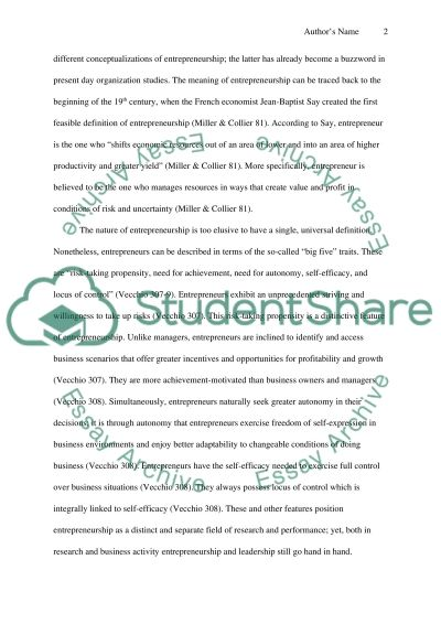 entrepreneurship case study essay Case study – entrepreneurship order description please read the articles in the reading session/articles attached and answer the question below: - which one.