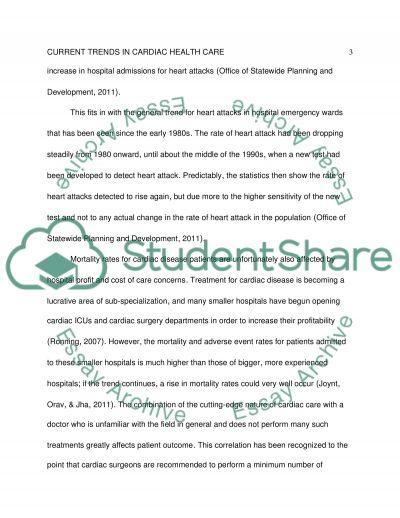Current Trends in Cardiac Health Care essay example