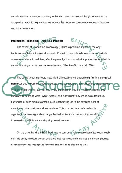 Research paper for Human Resource Management paper Topic (Outsourcing: When Does It Make Cents)