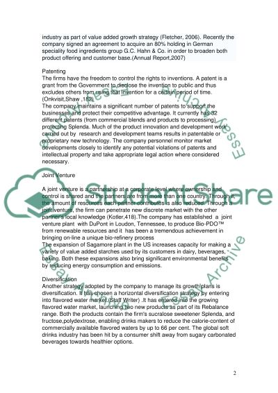 Corporate Strategy College Essay essay example