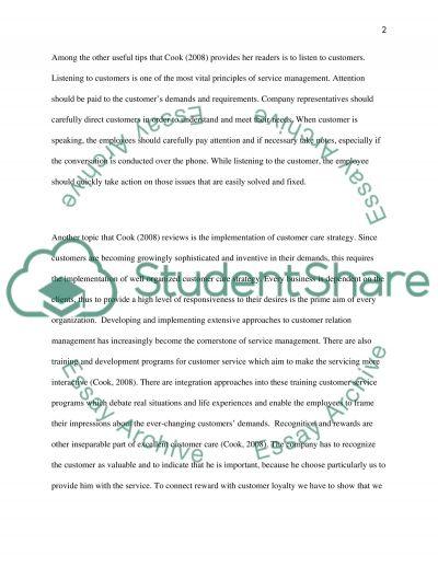 Managing Customer Service essay example
