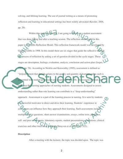model essays for students