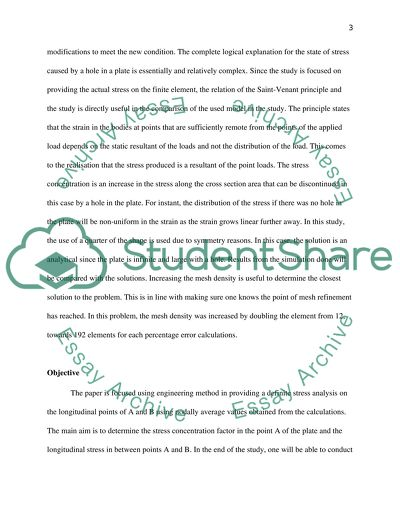 Finite Element Analysis Essay Example   Topics and Well Written
