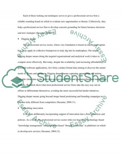Leading Service Firms essay example