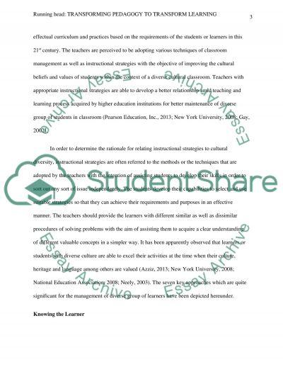 Transforming Pedagogy to Transform Learning