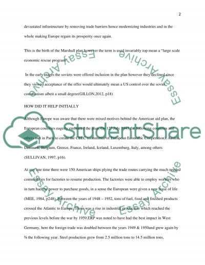 marshall plan research paper example topics and well written  marshall plan essay example