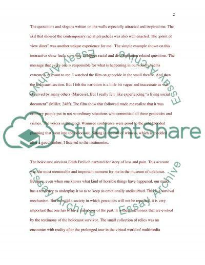 Musuem of Tolerance essay example