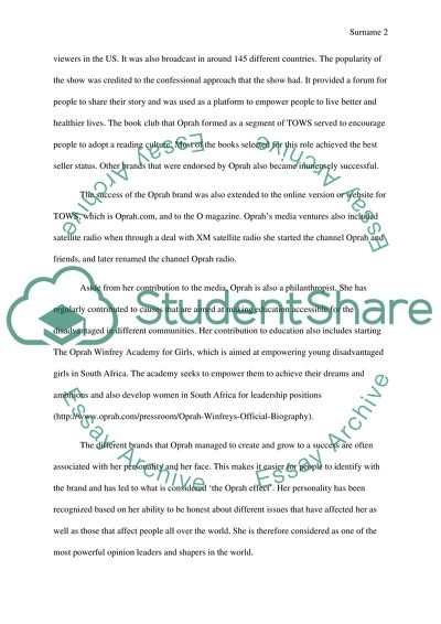 Oprah Winfrey Life Essay Example  Topics And Well Written Essays  Oprah Winfrey Life Research Essay Thesis also Assignments Help Online  Thesis Statement For Analytical Essay