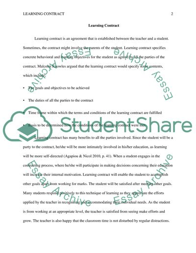 Learning contract 489