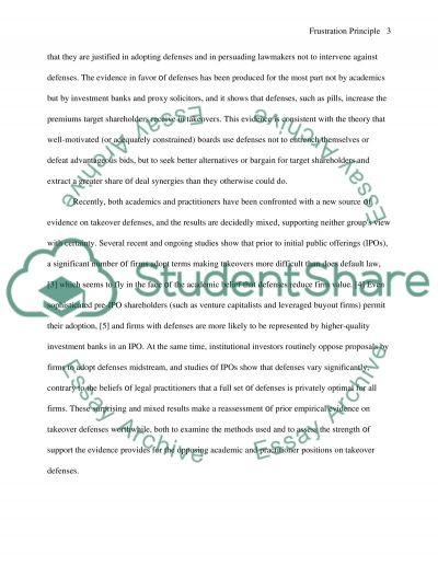 Takeovers and Mergers essay example