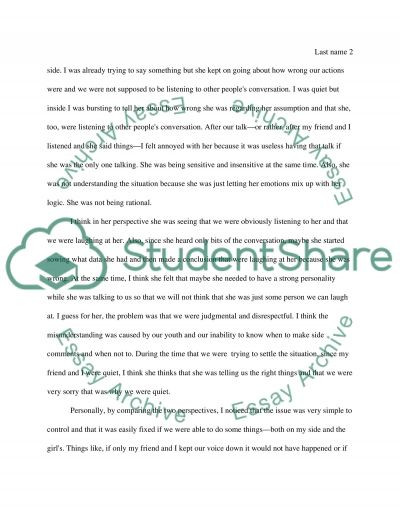 interpersonal conflict essay example topics and well written  interpersonal conflict essay example