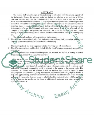 Does the impact of higher education have large effects on an individuals income essay example