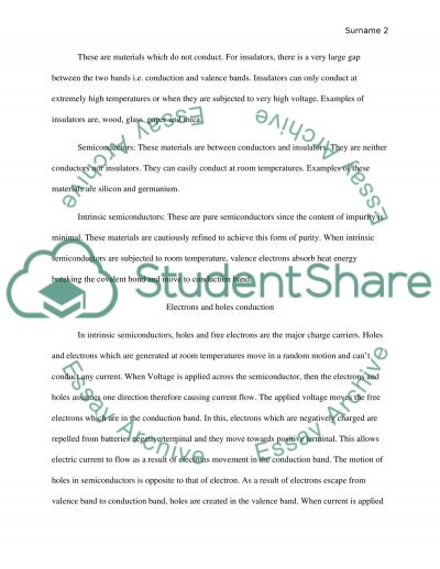 Semiconductor devices and circuits essay example