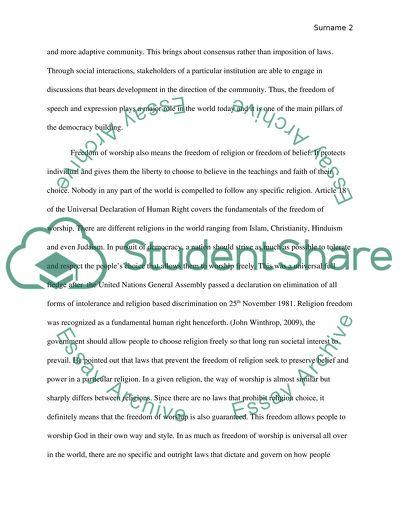 freedom essay example