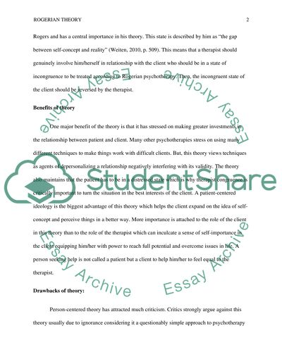 carl rogers rogerian theory research paper example  topics and  carl rogers rogerian theory