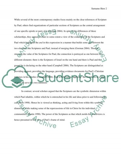 Paul in Contemporary Perspective (Topic B8) essay example