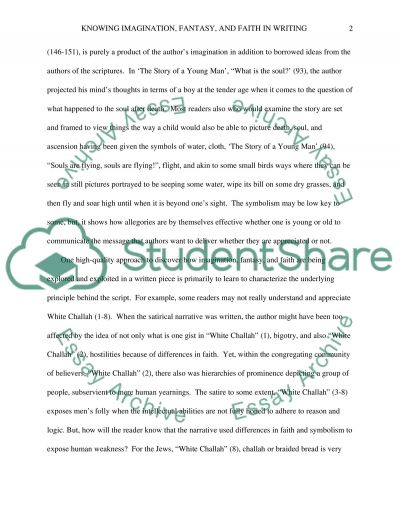 Knowing Imagination, Fantasy and Faith in essay example