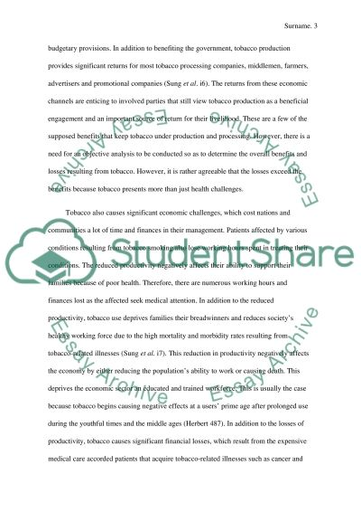 tobacco research paper outline