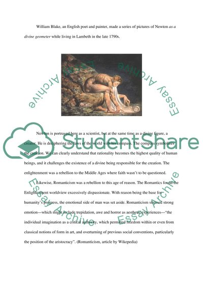 Essay about the values of Enlightenment and Romanticism through painting