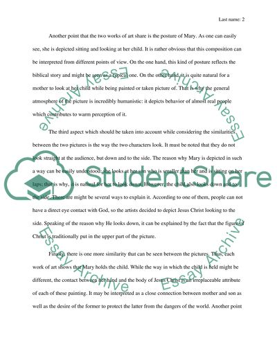 Examples of visual analysis essays