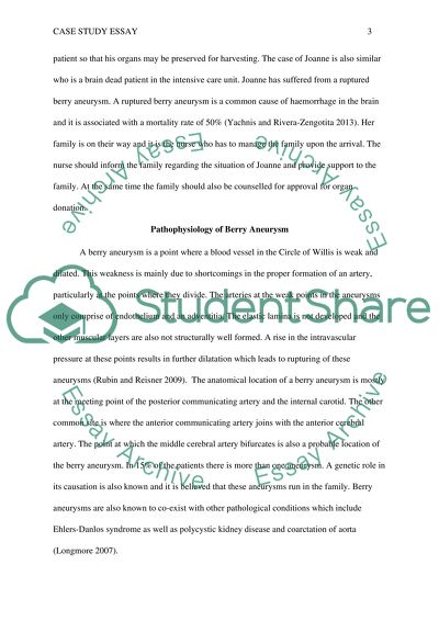 Case Study Essay Joanne Ruptured Berry Aneurysm Intracerebral Essay Case Study Essay Joanne Ruptured Berry Aneurysm Intracerebral  Haemorrhage Nursing Care Pathophysiology What Is The Best Website Doing Assignments For Money also How To Write A Good Proposal Essay  Writinghelp