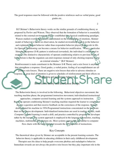 Applying Learning Theories essay example