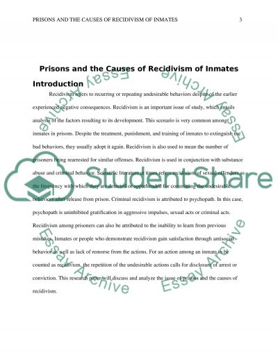 Prisons and the causes of recidivism of inmates