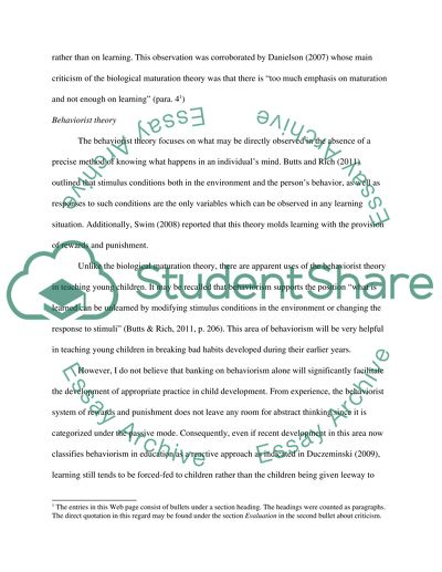 Child Develpoment Essay Example Topics And Well Written