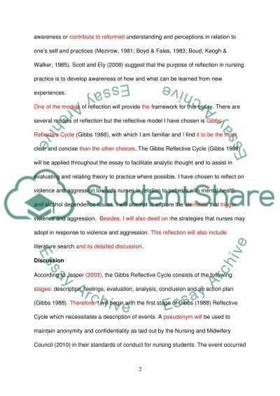 reflective cycle by gibbs essay example topics and well written  reflective cycle by gibbs essay example