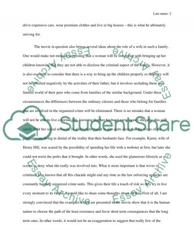 Goodfellas Short Paper