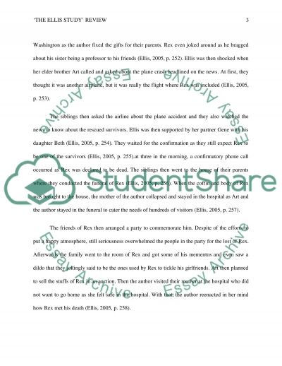 The Ellis Study Review essay example
