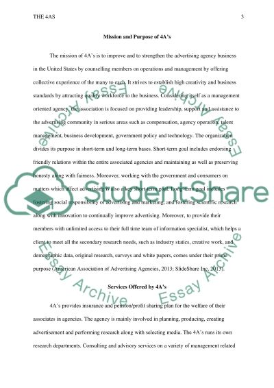 The 4As essay example