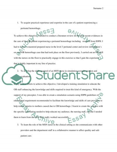 Practicum Objective Evaluation Report essay example