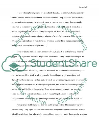 Against Method. Is the approach to science a valid form of inquiry essay example