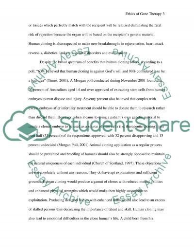 Ethics of Gene Therapy essay example