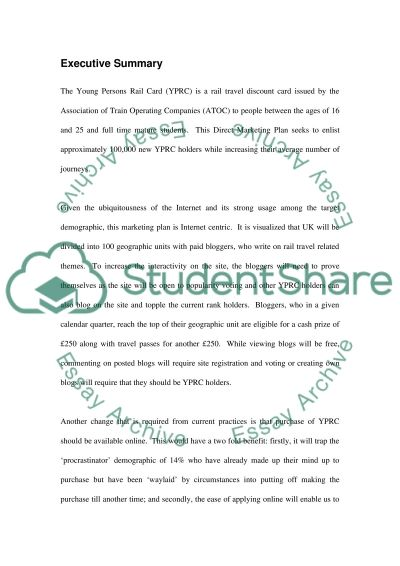 The Young Persons Rail Card essay example