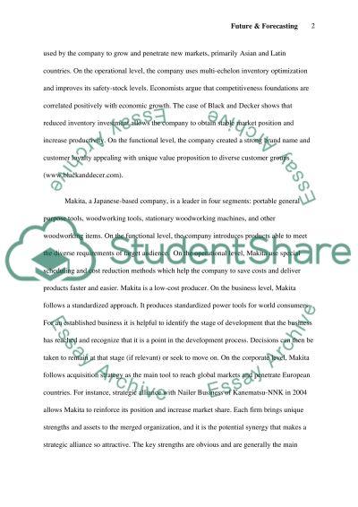 Future & Forecasting essay example