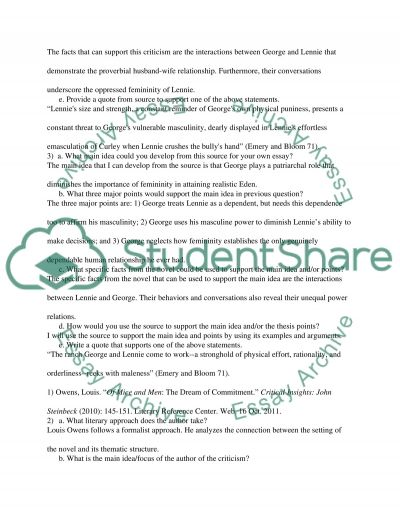mice and men annotated bibliography Of mice and men study guide contains a biography of john steinbeck, literature essays, quiz questions, major themes, characters, and a full summary and analysis.