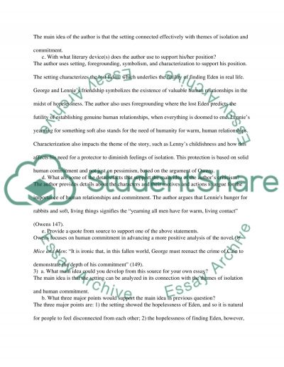 essay approximately rats and additionally men annotated bibliography